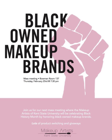 Makeup Artists of Kent State to Celebrate Black History Month